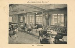 Nederland - 1920 -  Fotokaart Interieur SS Tambora - Rotterdamsche Lloyd Van Port Taufiq Naar Solo / Nederlands Indië - Periode 1891-1948 (Wilhelmina)