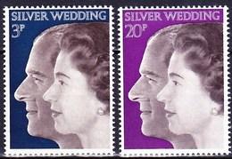Timbres Neufs** De Grande Bretagne, N°672-3 Yt, Noces D'argent Du Couple Royal - Neufs