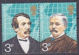 Timbres Neufs** De Grande Bretagne, N°679-80 Yt, Explorateurs, Livingstone, Henri Stanley, Se Tenant - Neufs