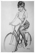 Michel Gourdon 6 Pin Up En Vélo Paris Flirt Frére D'Aslan - Gourdon