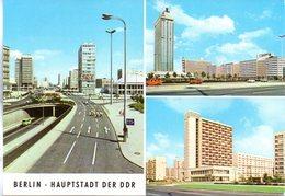 "(DDR-B1) Color-Mehrbild-Ansichtskarte ""BERLIN - HAUPTSTADT DER DDR"", EF Mi 2595 SSt 11.4.1981 BERLIN 25 - Germania"