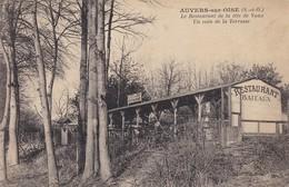 Cpa Dept 60 - Auvers-sur-oise - Le Restaurant De La Tête De Vaux Un Coin De La Terrasse (voir Scan Recto-verso) - France