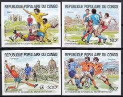 Kongo, 1990, 1144/47,  Fußball-Weltmeisterschaft 1990.  MNH **, Imperforate, Cut. - Mint/hinged