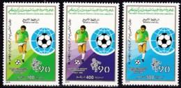 Lybien, 1990, 1846/48,  Fußball-Weltmeisterschaft 1990.  MNH ** - Libyen