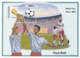 Uganda, 1990, 647 Block 90,  Fußball-Weltmeisterschaft 1990.  MNH ** - Uganda (1962-...)