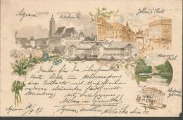 ZAGREB AGRAM, HRVATSKA CROATIA PC LITO, Circulated 1897 - Kroatien