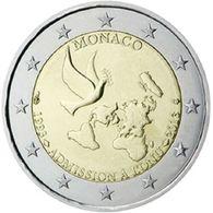 "MONACO PIECE DE 2 EURO COMMEMORATIVE 2013 (20° ANNIVERSAIRE ADMISSION A L'ONU"") NEUVE UNC - Monaco"