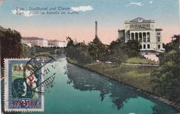 CPA - Lettonie - Riga - Stadtkanal Und Theater/ Pilsehtas Kanalis Un Teatris - 1921 - Lettonie