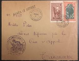 """Madagascar Lettre Griffe """"Après Le Départ"""" De Ambatolampy Pour Tananarive  De 1941 Sup ! - Brieven En Documenten"""