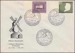 228 Mozart Eckstück Mit 229 Auf Schmuck-Umschlag Dülkener Narrenmühle SSt 5.3.56 - BRD