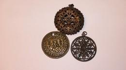 Lots De 3 Medailles Pendentif Anciennes - Pendentifs