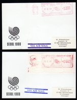 South Korea 1988 Seoul 2 Metercards To Germany. - Corea Del Sur