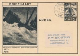 Nederland - 1933 - 5 Cent Nat. Crisis Comité, Briefkaart G234 Van Groningen Naar Amsterdam - Material Postal