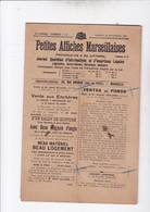 MARSEILLE / LOT 10 PETITES AFFICHES MARSEILLAISES 1920 A 1924 - Newspapers