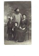 Carte Photo Militaria - Soldat Uniforme Képi Cor De Chasse  Femme élégante Enfants Famille - - Characters