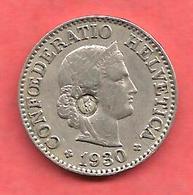 10 Rappen , SUISSE , 1930 B , Cupro-Nickel , N° KM# 27 - Suisse