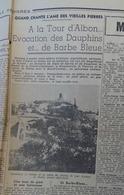 DROME-LA TOUR D'ALBON Article Dans LE PROGRÈS Du 31 Octobre 1947 Légendes - Journaux - Quotidiens