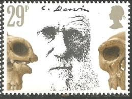 Timbres Neufs** De Grande Bretagne, N°1026 Yt, Charles Darwin, Crânes Préhistoriques - 1952-.... (Elizabeth II)