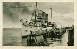 T.S. Königin Luise - Dampfer Auf Der Helgoland-Route - Paquebots