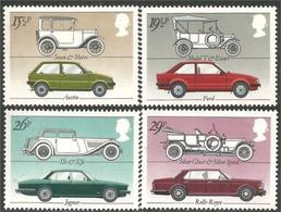 Timbres Neufs** De Grande Bretagne, N°1058-61 Yt, Industrie Automobile, Voitures, Rolls Royce, Austin, Jaguar, Ford Esco - 1952-.... (Elizabeth II)