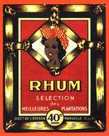 étiquette Ancienne De Rhum Selection Distillerie De L'éperon à Marseille - Rhum