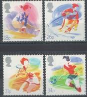 Timbres Neufs** De Grande Bretagne, N°1307-10 Yt, Sports, Football, Ski, Tennis, Gymnastique - 1952-.... (Elizabeth II)