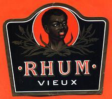 étiquette Ancienne De Rhum Vieux - Rhum