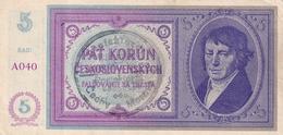 Czechoslovakia Protectorate Protektorát 5 Korun  AUNC - Tsjechoslowakije