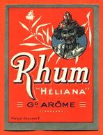 étiquette Ancienne De Rhum Héliana Grand Arome - Rhum