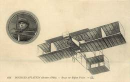 BOURGES AVIATION Octobre 1910 Bregi Sur Biplan Voisin - Reuniones