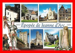 4 CPSM/gf  Châteaux De La Loire, Carte Différentes...I0439 - Centre-Val De Loire