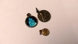 Lots De  3 Pendentifs Medaille Religieuse - Pendants
