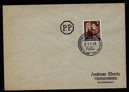 A5846) Liechtenstein Brief Vaduz 03.08.38 3-Briefmarkenausstellung - Liechtenstein