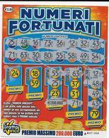 GRATTA E VINCI   - NUMERI FORTUNATI Codice AA NUMERO 24   DA € 3.00 - USATO (SERIE SECONDA) - Biglietti Della Lotteria