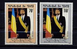 Tchad ** N° 490/491 - Président Hissein Habré - Chad (1960-...)