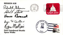 1984 USA Space Shuttle Challenger STS-41B   Commemorative Cover - América Del Norte
