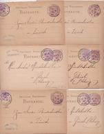 Oelsnitz/Vogtl. Emil Künzel DEutsche Reichspost Postkarte 1880 Pour Zürich - Lot De 6 Cartes - Germany
