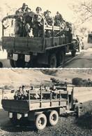I46 - N° 42 - MILITARIA - Guerre D'Algérie - En Patrouille Avec Le GMC - Lot De 2 Photos - Krieg, Militär