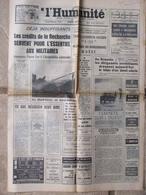 Journal L'Humanité (3 Nov 1967) Crédits De La Recherche - Avuin à Géométrie - Mont Cenis - 1950 - Oggi