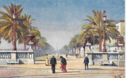 AK 0151  Barcelona - Paseo De Colon / Künstlerkarte Oilette Um 1910-20 - Barcelona