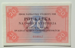 Czechoslovakia Slovakia 20 Korun Prison Voucher UNC - Tchécoslovaquie
