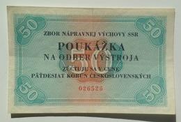 Czechoslovakia Slovakia Prison Voucher 50 Korun - Tchécoslovaquie