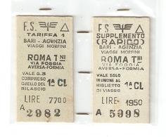 BIGL--00053-- BIGLIETTO FERROVIE DELLO STATO-1 CLASSE-CON SUPPLEMENTO RAPIDO  07-11-1968 - Europa