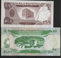 B 77 - MAURICE Billets De 5 Et 10 Rupees états Neufs - Maurice