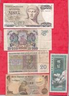 Pays Du Monde 20 Billets Dans L 'état Lot N °6 (PETIT PRIX DE DEPART A SAISIR ) - Monnaies & Billets