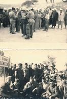 I46 - N° 46 - MILITARIA - Guerre D'Algérie - En Patrouille, La Pause, Contrôles - Lot De 2 Photos - War, Military