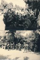 I46 - N° 47 - MILITARIA - Guerre D'Algérie - En Patrouille, La Pause - Lot De 2 Photos - War, Military