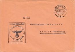Env Frei Durch Ablösung Reich Obl STRASSBURG (ELS) 1 Du 13.10.41 Adressée à Berlin - Postmark Collection (Covers)
