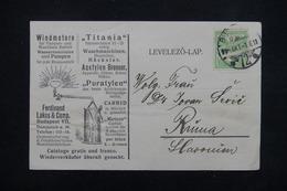 HONGRIE - Carte Commerciale Illustrée ( Lampe à Huile ) De Budapest Pour La Slovénie En 1909 - L 22113 - Hongrie