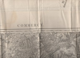 Commercy (55 Meuse) Carte D'état-major N/b Révisée En 1912 (PPP10166) - Cartes Topographiques